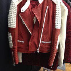 Leather Moto Jacket, $150