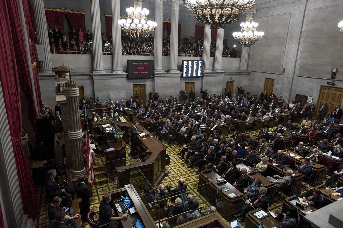 Tennessee lawmakers convene in a joint 2016 assembly at the State Capitol. The most recent General Assembly adjourned for the year on Wednesday.