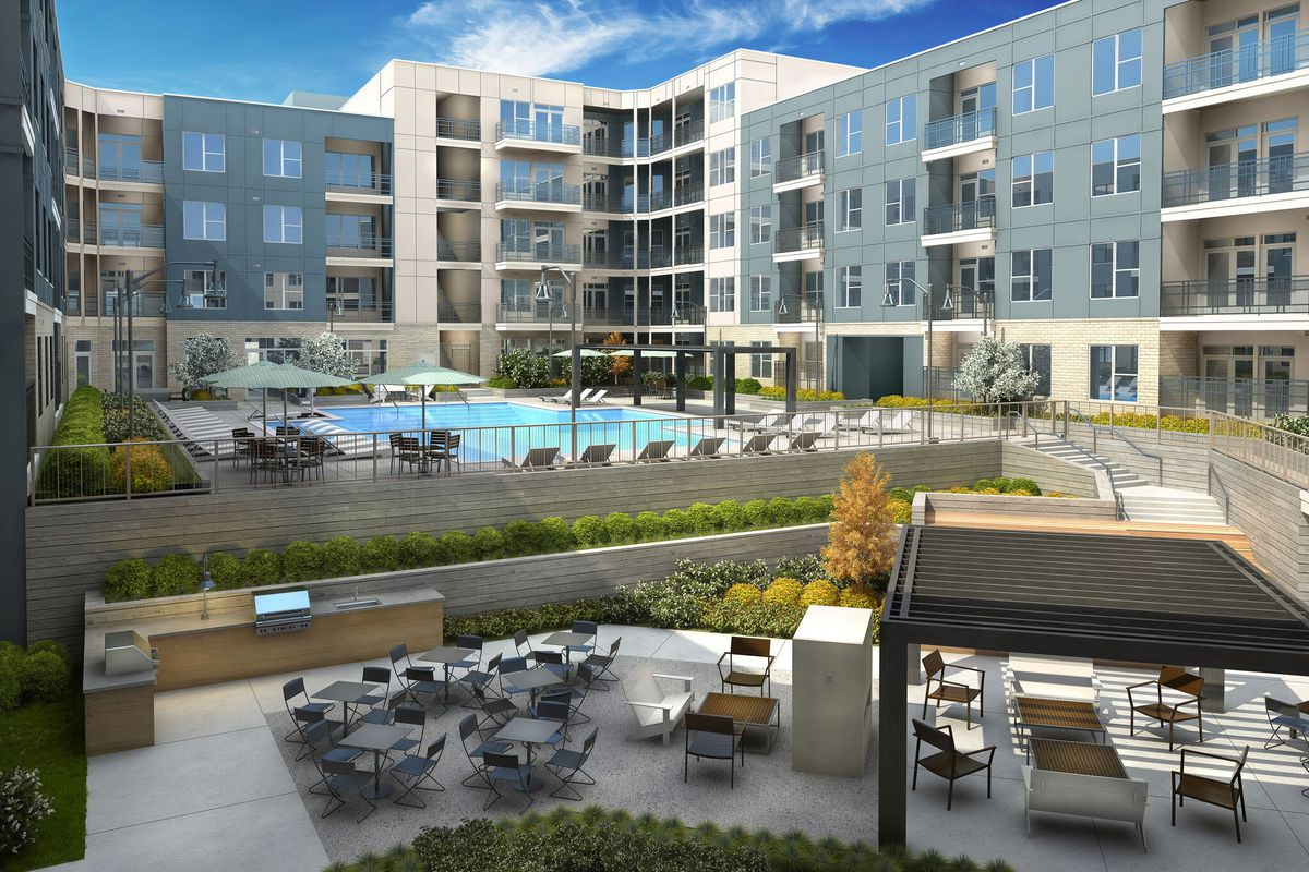 On buckhead s western fringes new apartments welcome for Apartments near mercedes benz stadium