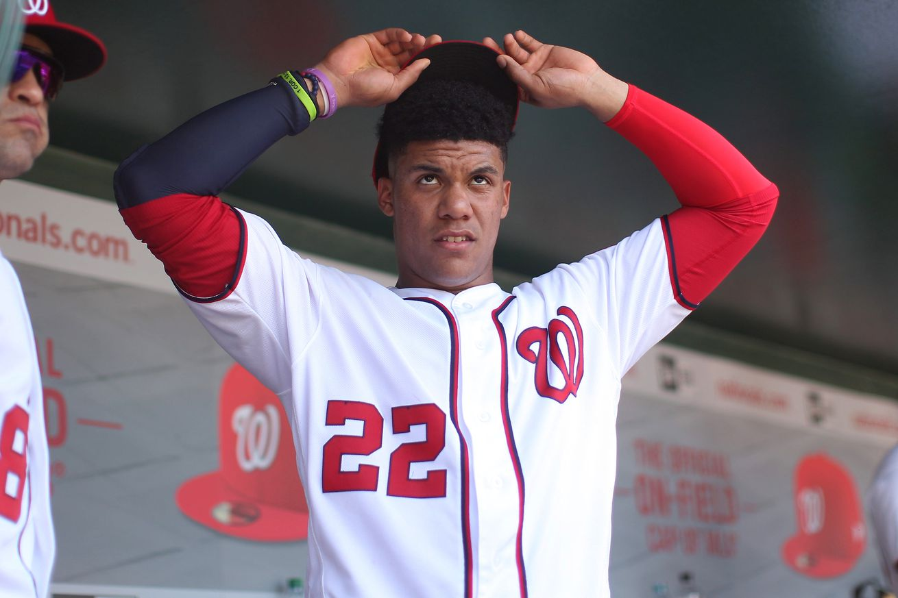 Washington Nationals' Juan Soto turns 21 in October, so there's time to catch Mel Ott...