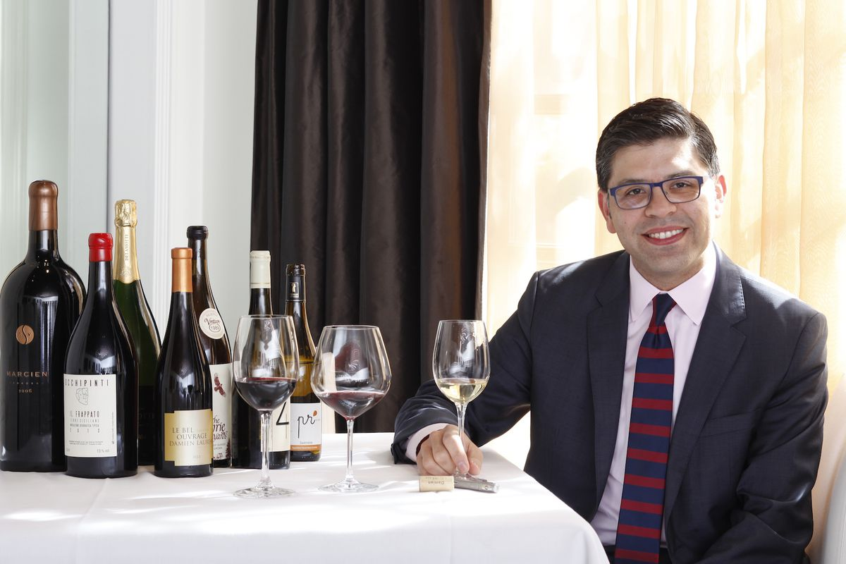 Aria general manager and wine director Andres Loaiza.