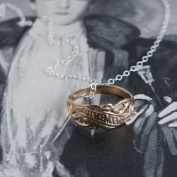 Old Slavic remembrance ring necklace, $30 (was $60)