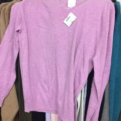 Cashmere sweater, $90