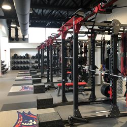 More of NJIT's fitness center, including medicine balls in the back.