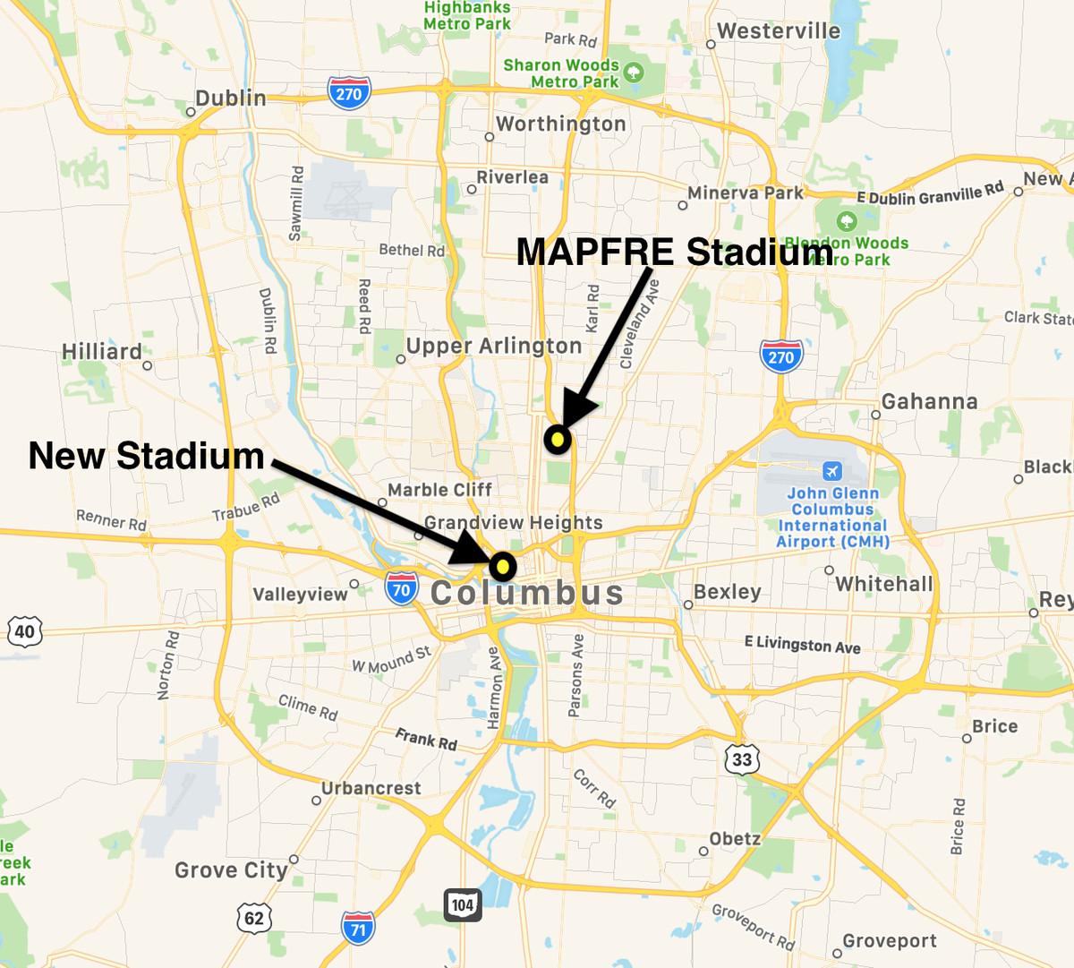 Warriors Proposed New Stadium Location: Ownership Announces Plans For New Crew SC Stadium In