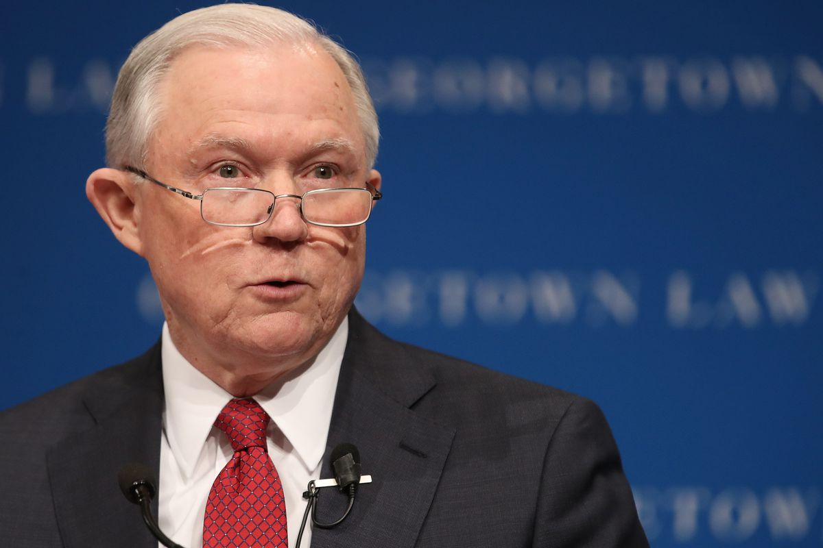 AG Jeff Sessions Discusses Free Speech On College Campuses At Georgetown U.