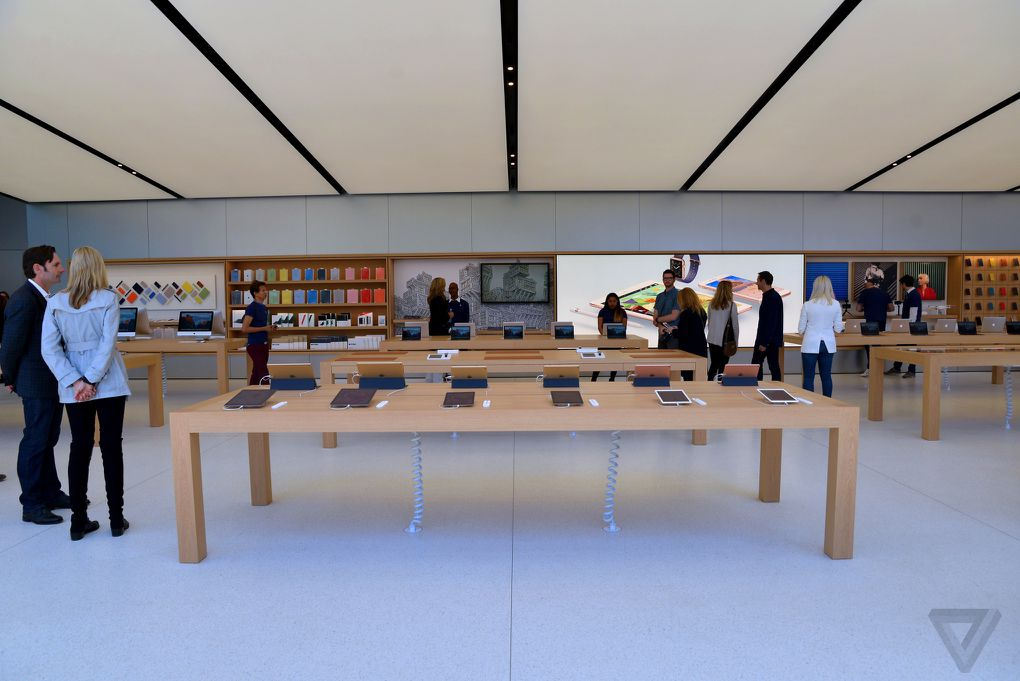 apple just revealed the future of its retail stores the verge. Black Bedroom Furniture Sets. Home Design Ideas