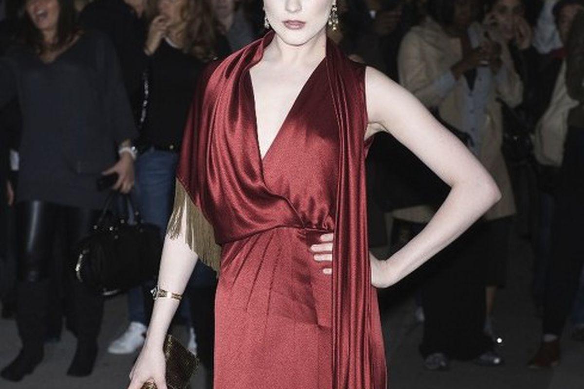 Evan Rachel Wood wears Gucci to last year's Fashion Group International gala.