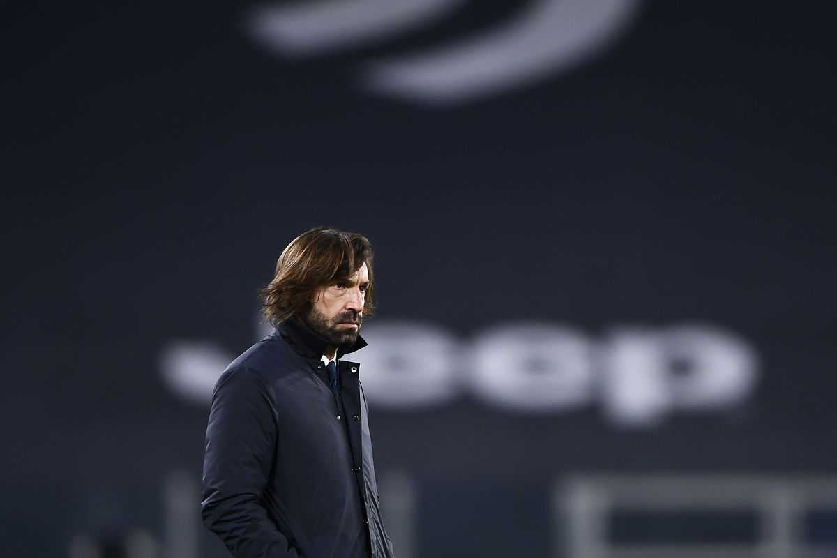 Andrea Pirlo, head coach of Juventus FC, looks on prior to...