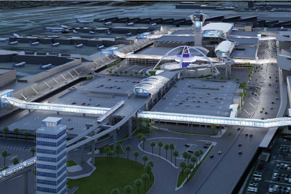 New Look at the LAX People Mover Set to Be Finished in 2023 - Curbed LA
