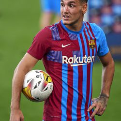 The hat-trick hero with the matchball