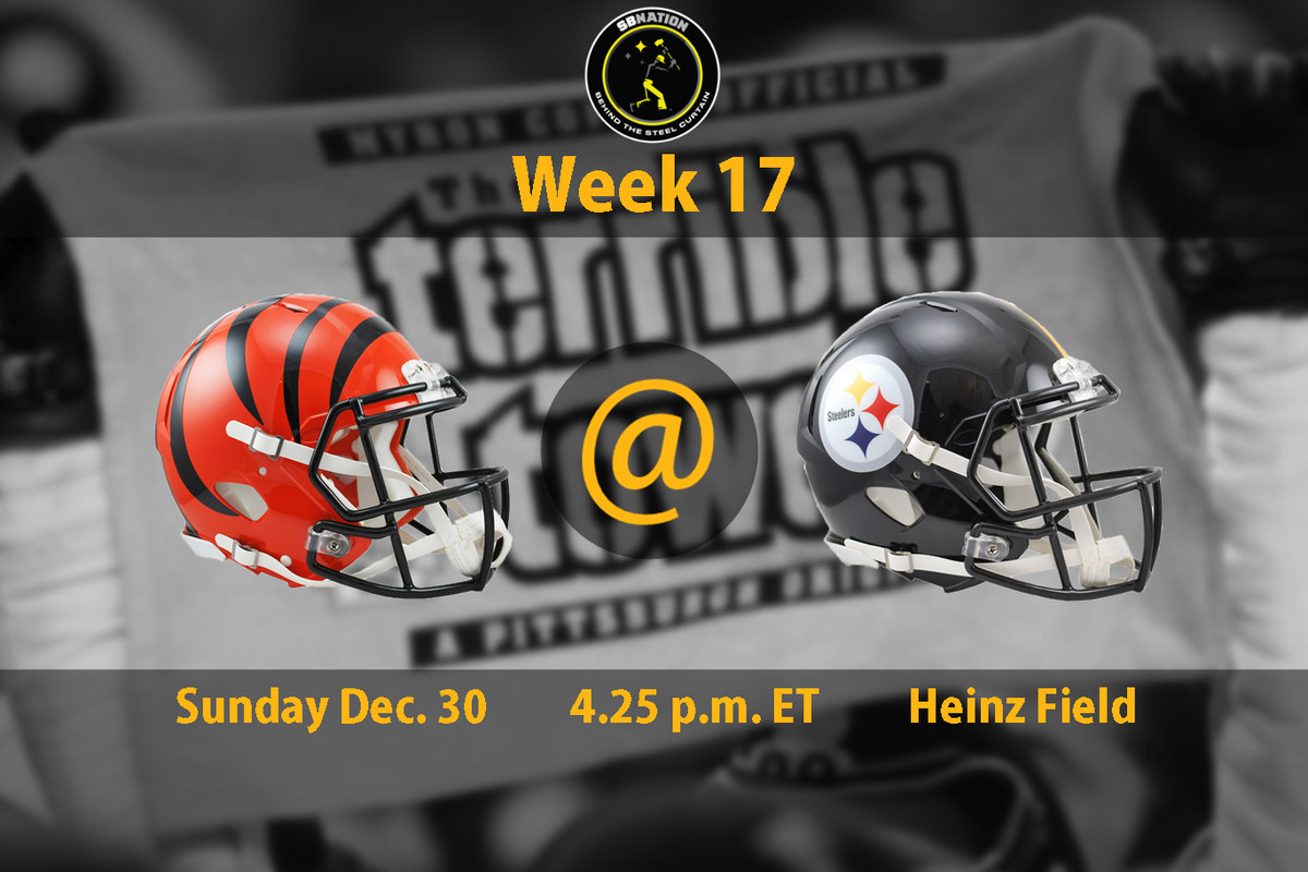 Steelers Vs Bengals Week 17 Time Tv Schedule And How To