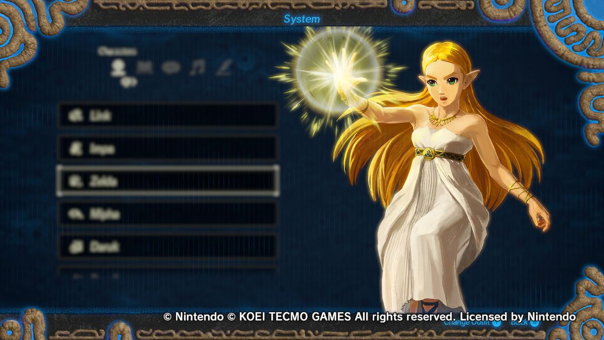 Zelda in her Bow of Light gear from Hyrule Warriors: Age of Calamity