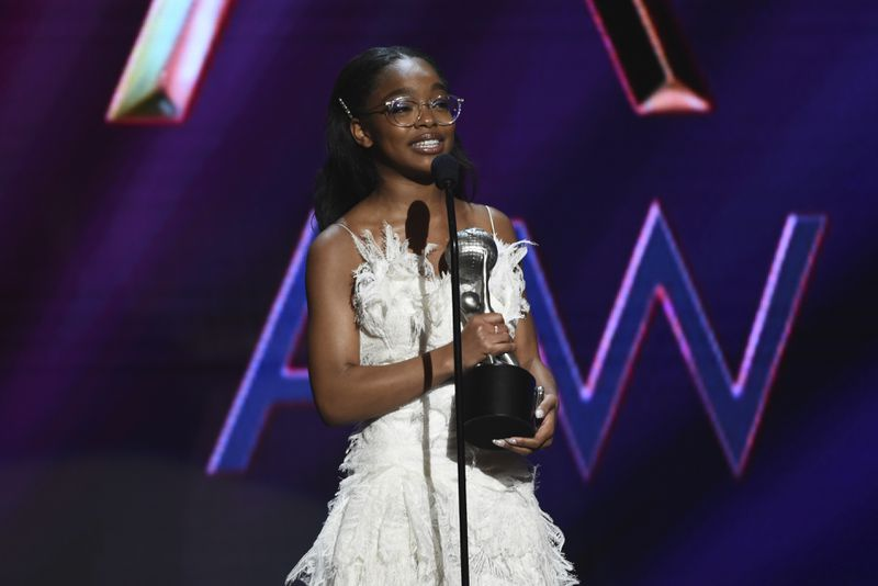 """Fifteen-yea-old Marsai Martin won the award for outstanding supporting actress in a motion picture for """"Little"""" at the 51st NAACP Image Awards."""