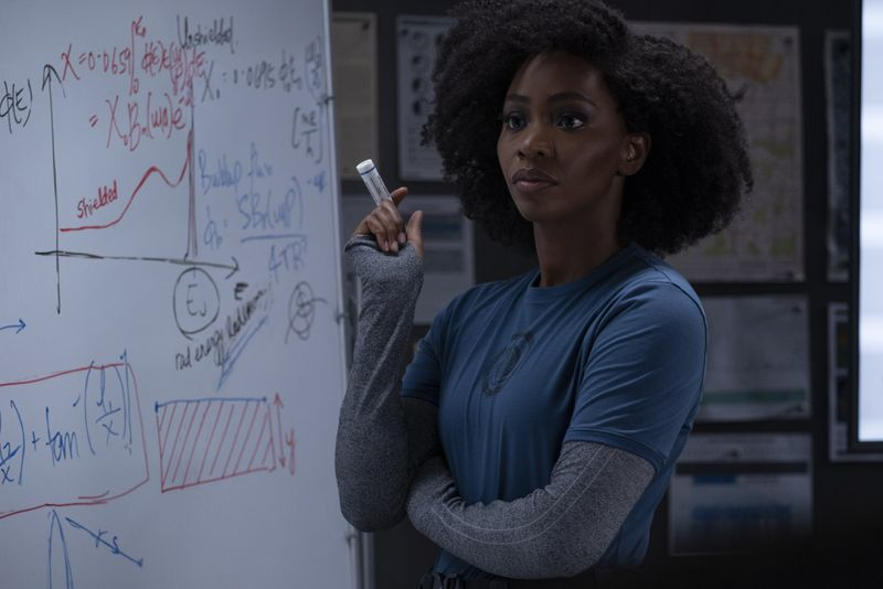 Monica Rambeau works out an equation on what might be happening in Westview, New Jersey.