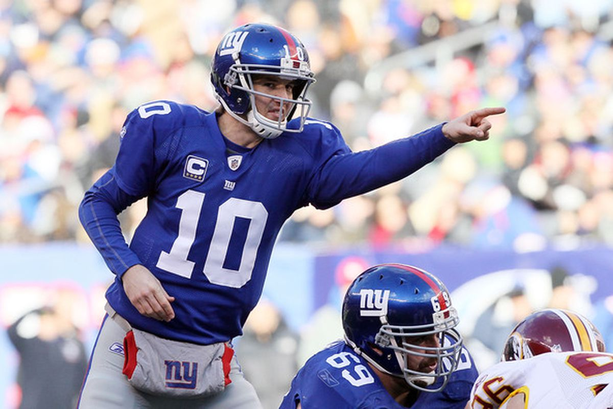<strong>Eli Manning </strong>and the New York Giants are pointed in the right direction.  (Photo by Jim McIsaac/Getty Images)
