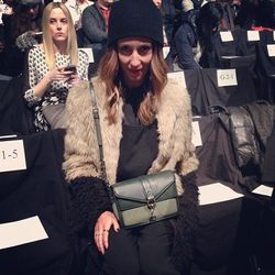 """Kiara Schwartz of <a href=""""http://la.racked.com/archives/2013/11/15/an_la_blogstar_shares_her_inspiring_journey_to_south_africa.php""""target=""""_blank"""">Tobruck Ave</A> at Rebecca Minkoff."""