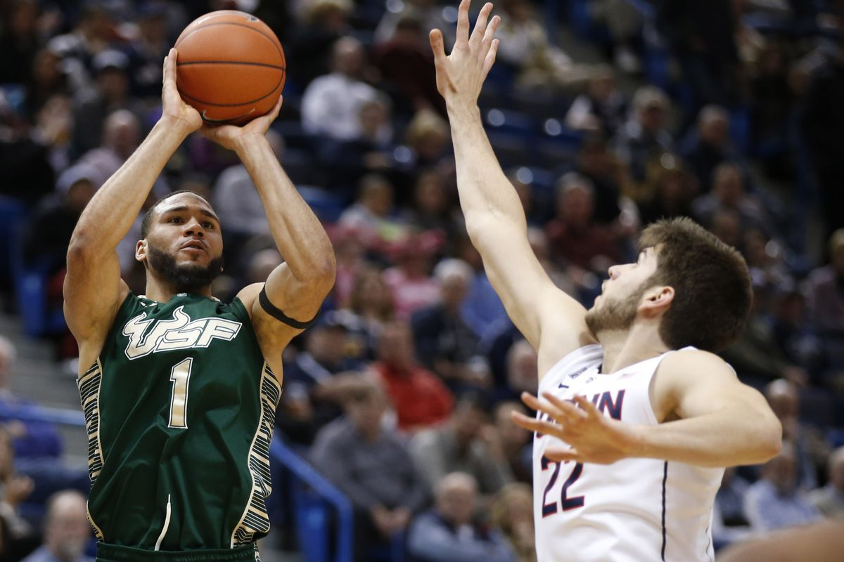 Musa Abdul-Aleem led the Bulls with 8 points in USF's previous meeting with UConn
