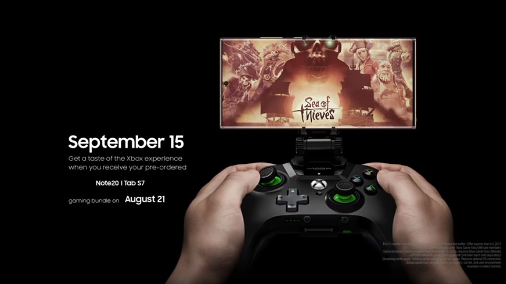 The Note 20 will have a unique XBox Game Pass App available 15th September