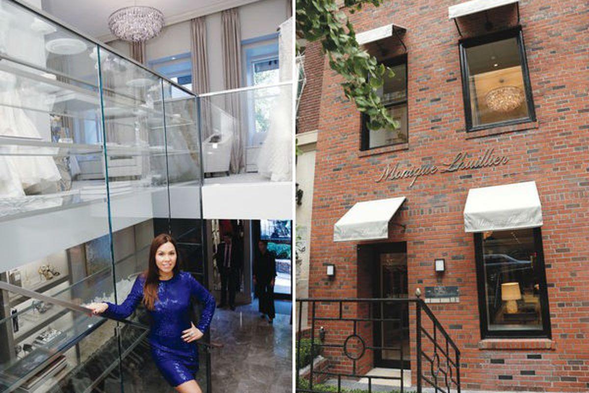 "Images via <a href=""http://www.wwd.com/retail-news/designer-luxury/monique-lhuillier-opens-first-new-york-store-6406674"">WWD</a>"
