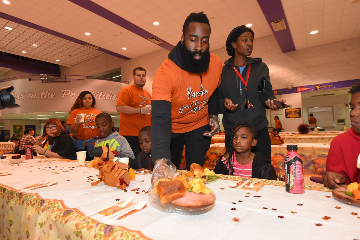 James Harden Thanksgiving Event