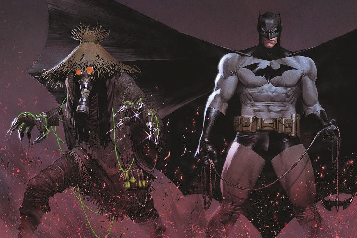 Batman and the Scarecrow in promotional art for Batman: Fear State