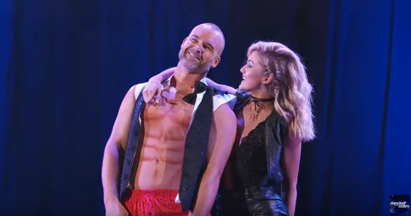 """David Ross and Lindsay Arnold finish their """"Magic Mike""""-influenced jazz routine on Week 3 of """"Dancing with the Stars."""" 