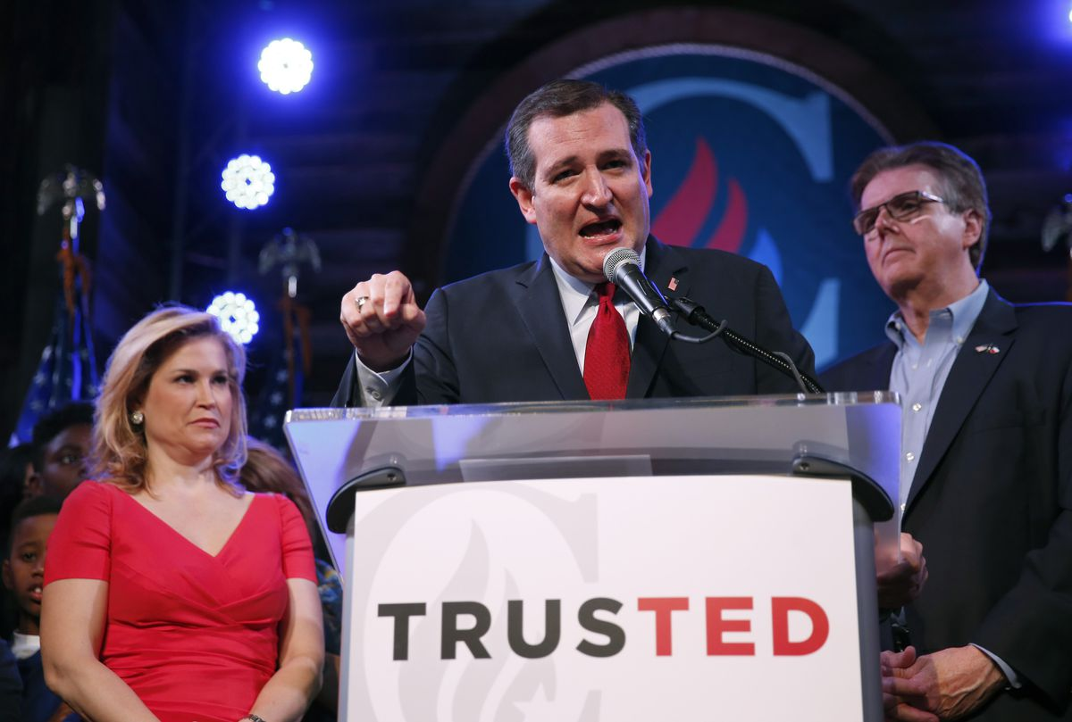 Ted Cruz Holds Super Tuesday Election Night Watch Party In Home State Of Texas