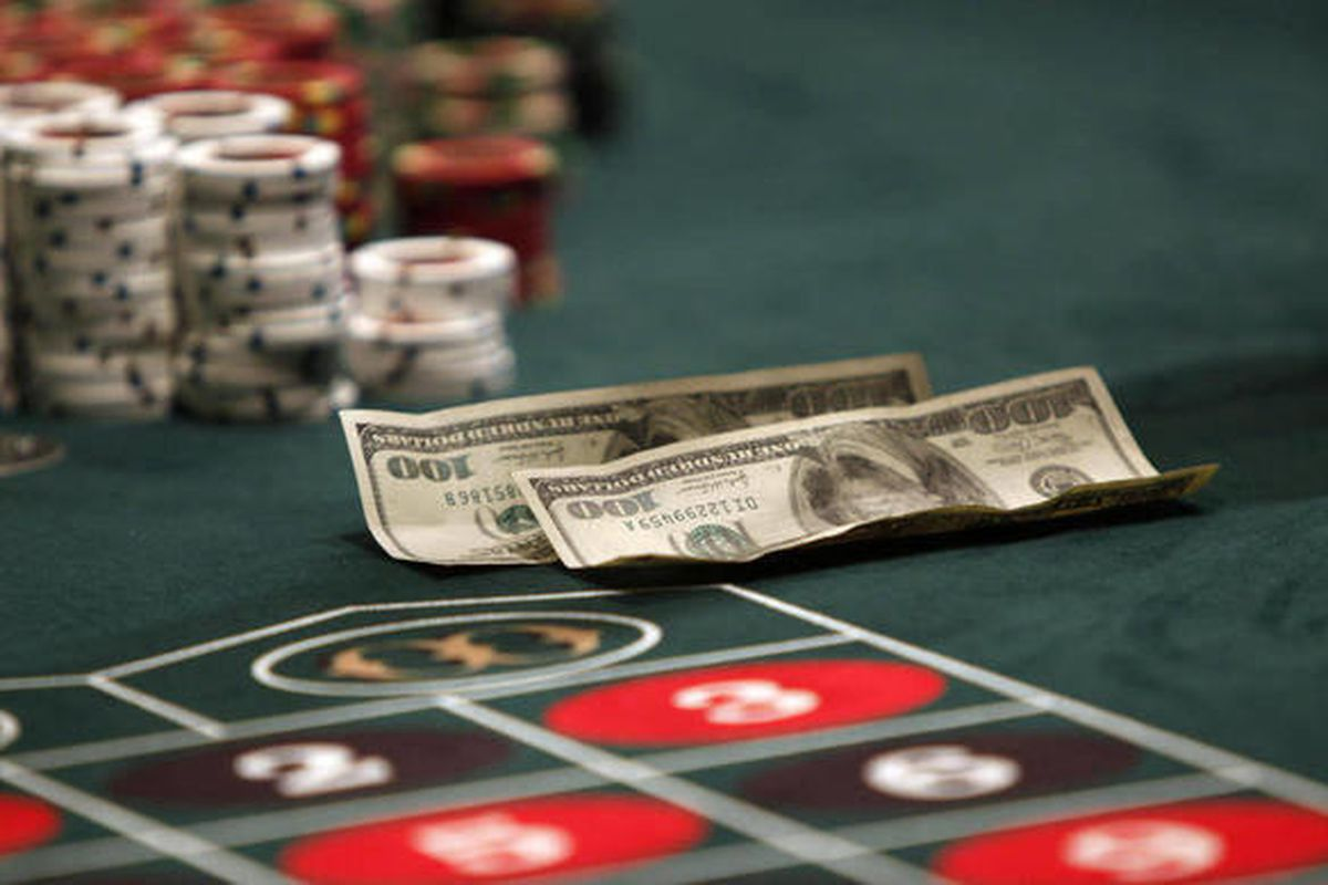 In this March 16, 2012, file photo a gambling table is seen at Hollywood Casino, Friday, in Bangor, Maine.