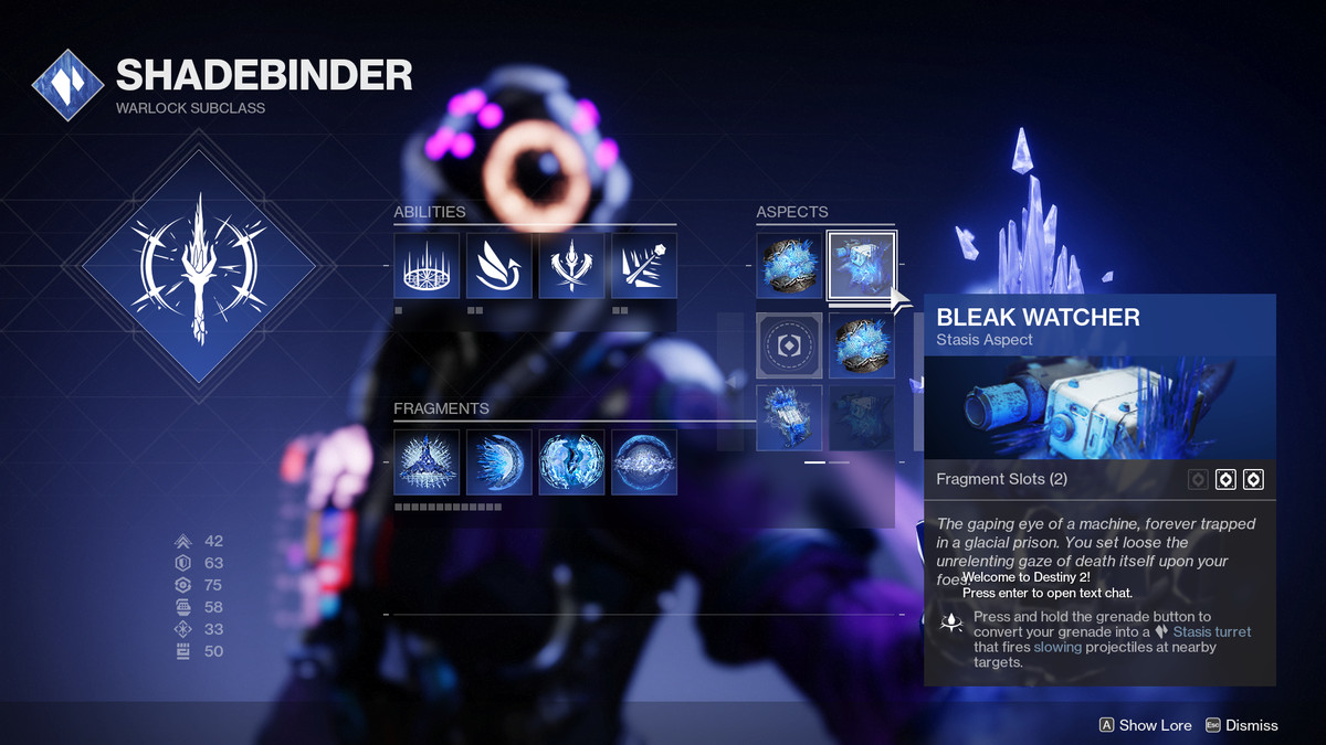 Destiny 2 Shadebinder subclass tree