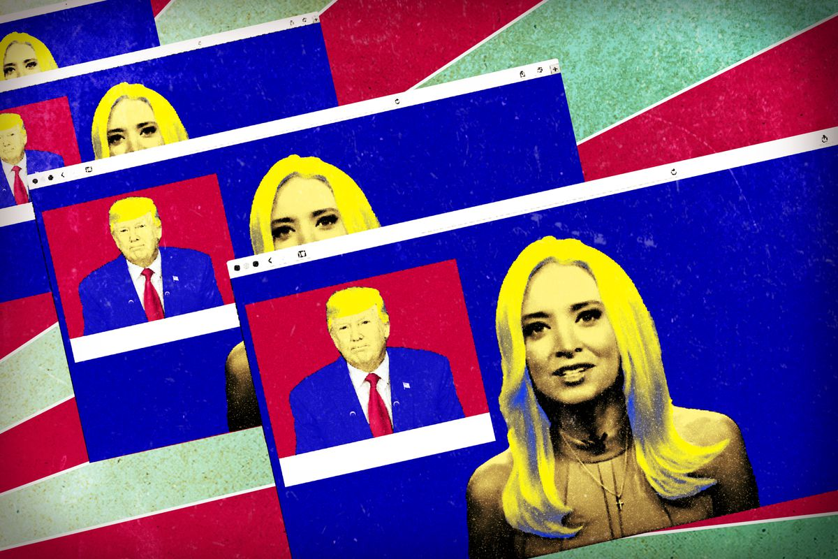 """Illustration of Donald Trump's """"Real News"""" video series"""