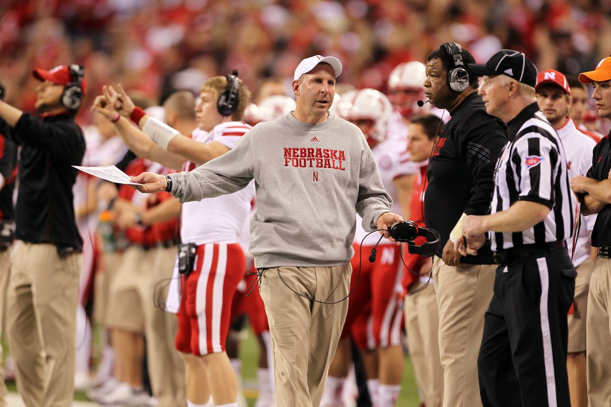 Nebraska Head Coach Bo Pelini at the 2012 Big Ten Championship Game