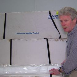 Rick Forster, a professor in the University of Utah Department of Geography, talks about what his team discovered in ice cores in Greenland in 2011. He talked about melt layers, where a melt event occurred where the ice turned into water and refroze. They can be seen as slightly darker bands in the core.