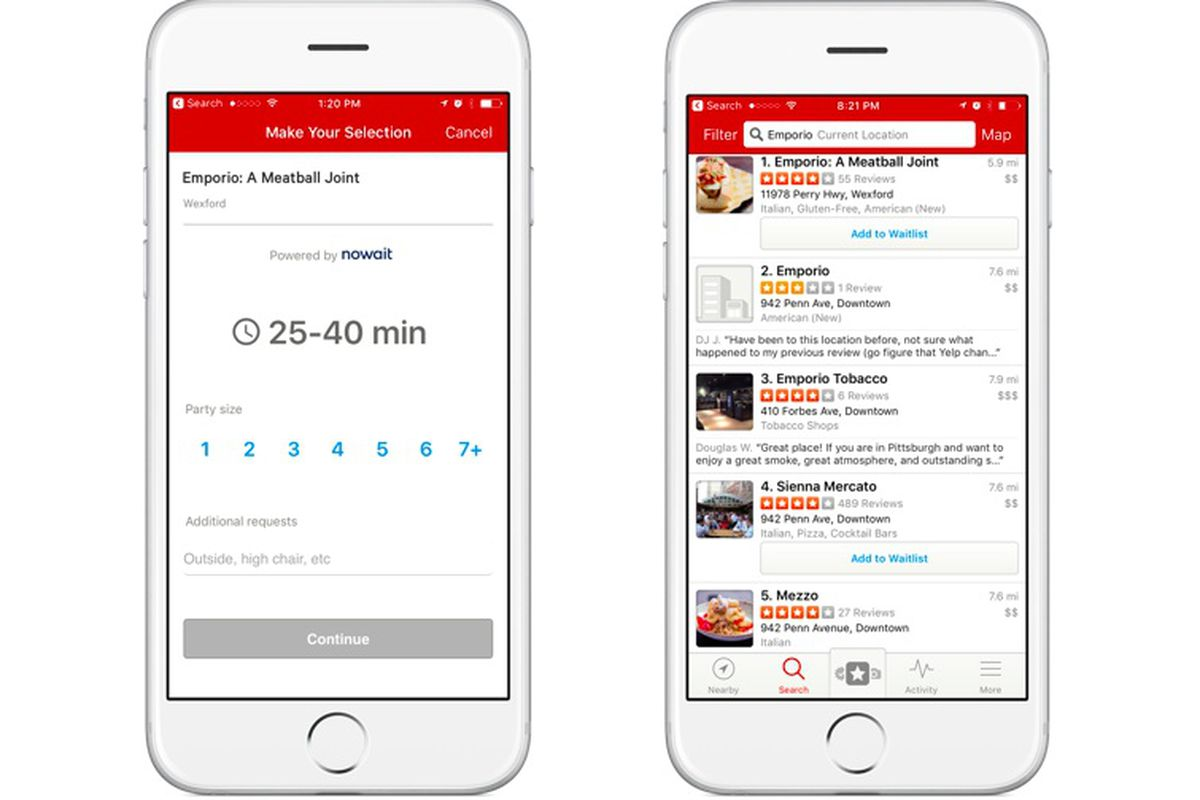 Yelp S Newest Feature Eliminates Long Restaurant Waits Eater
