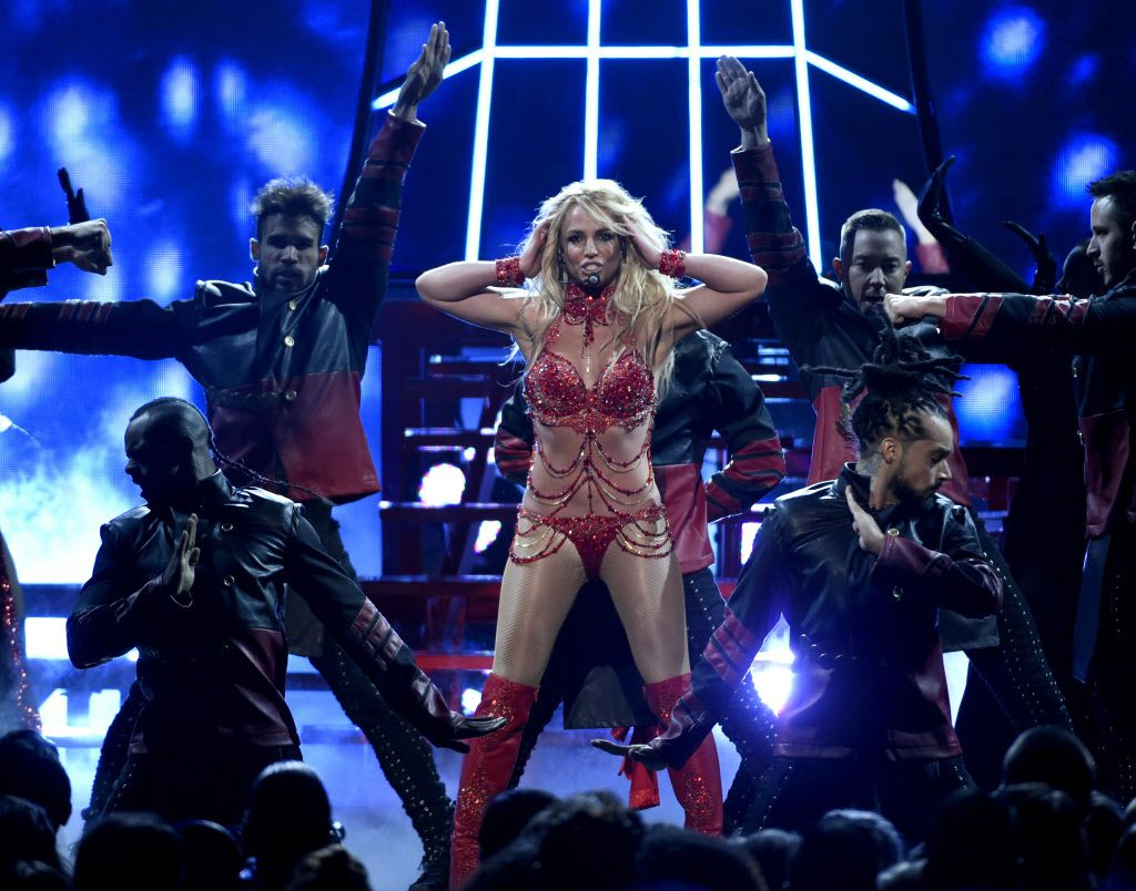 Britney Spears performs at the Billboard Music Awards on Sunday.   Chris Pizzello/Invision/AP