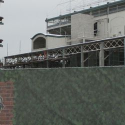 Wed 12/30: view of new refurbishing platform from the west front -