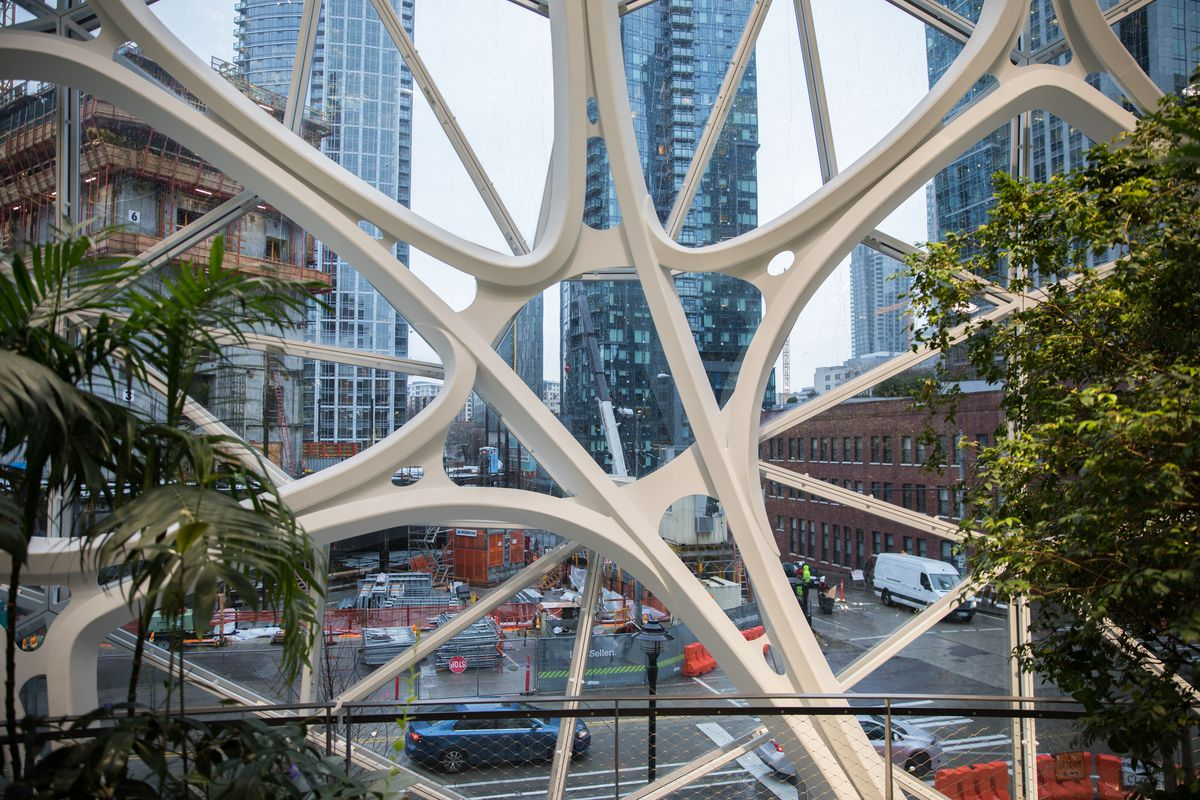 Inside The Amazon Spheres The Plants The Architecture