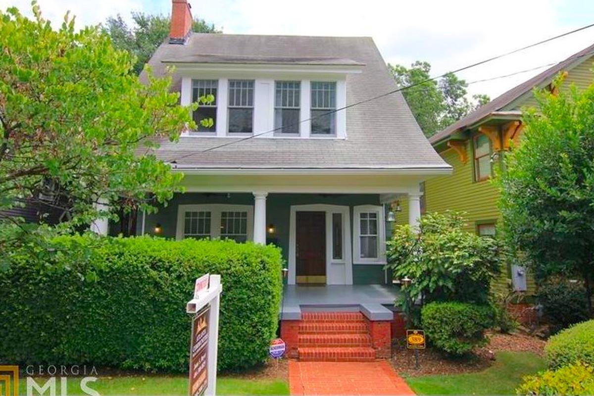 An old bungalow for sale in Atlanta's Inman Park neighborhood.