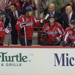 Brown and Trotz Fist Bump