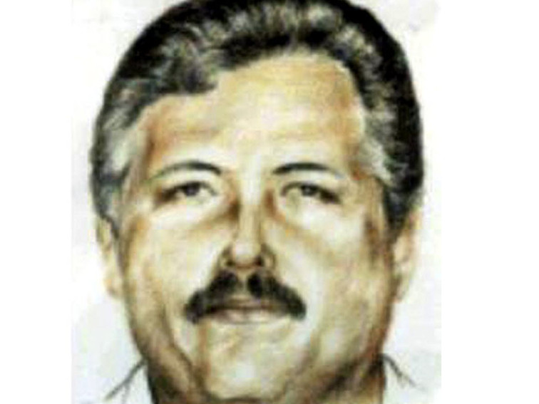 """A sketch of fugitive drug lord Ismael """"El Mayo"""" Zambada Garcia released by the Mexican government."""