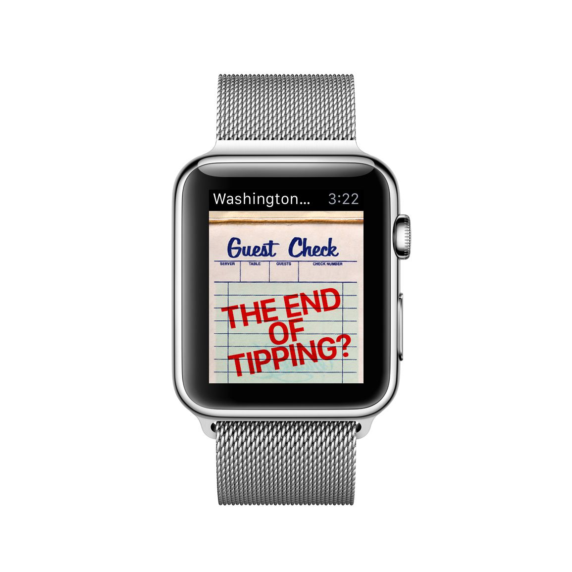 The Washington Post's new Apple Watch app will pick a single story to explore through words, graphics and images.