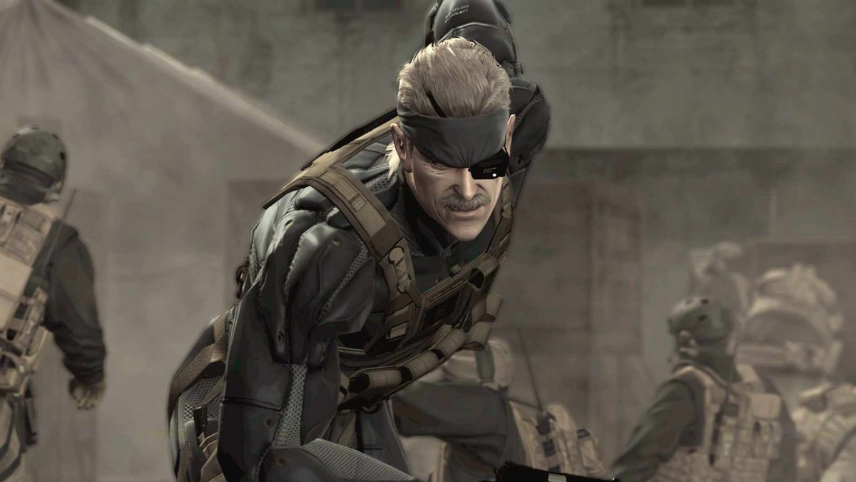 Metal Gear Solid 4 - Old Snake crouching