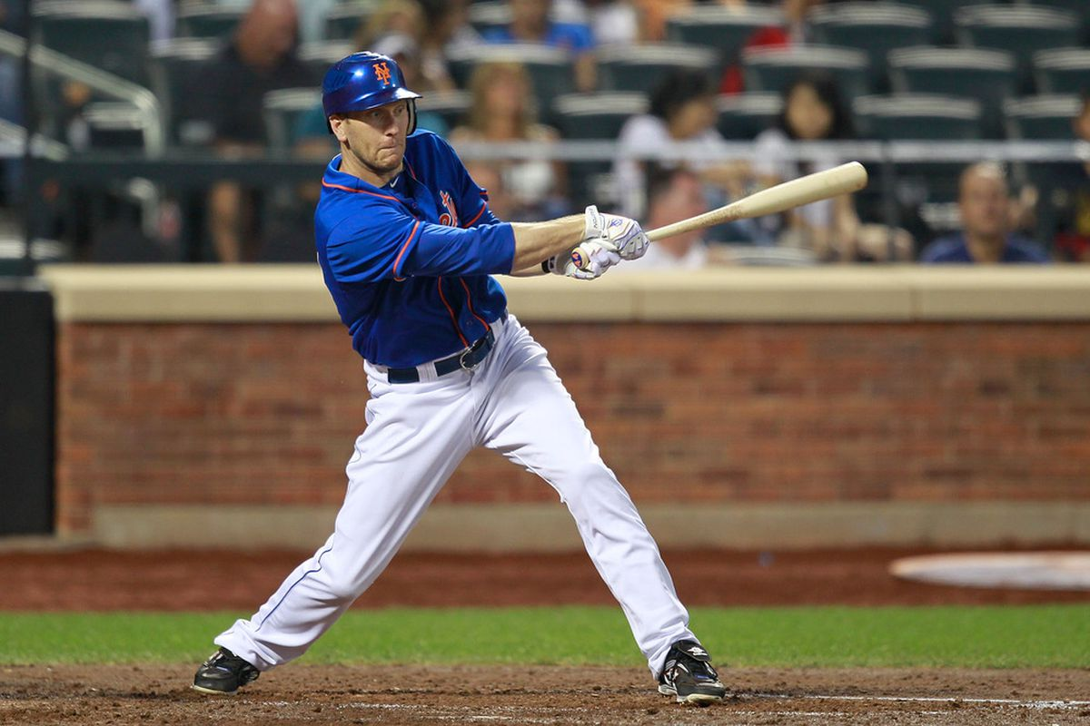 Perhaps Jason Bay has finally turned things around as a Met. (Photo by Chris Trotman/Getty Images)