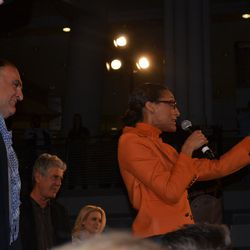 Carla Hall reprises her role as auctioneer extraordinaire