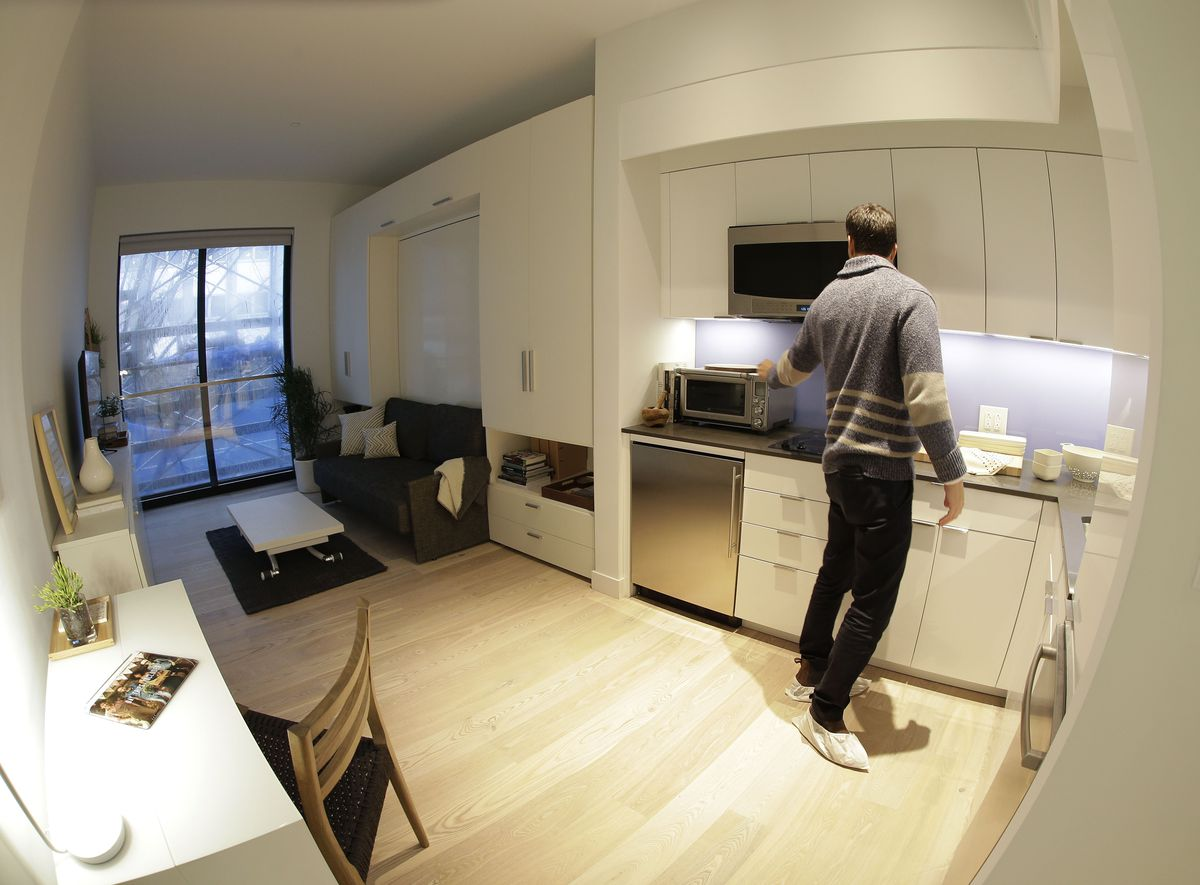 Inside a 302-square-foot micro unit in New York City.