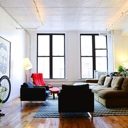 The lounge area of record company Cantora.