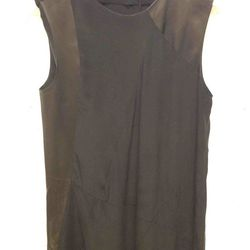 $180 Leather Combo Dress
