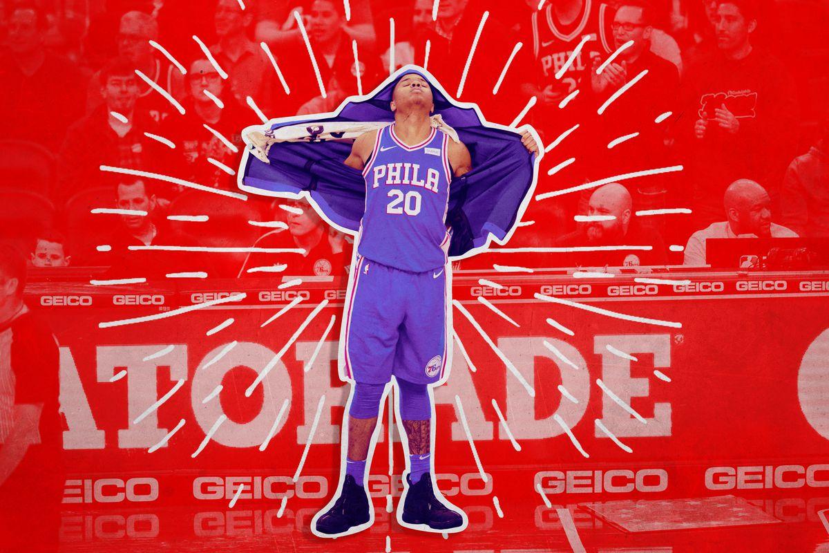 A treated photo of Philadelphia 76ers rookie Markelle Fultz