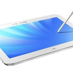 """Samsung ATIV TAB 3, $499.00, samsung.com: """"Super sleek and glossy white, Samsung's TAB 3 is essentially a 10.1-inch laptop in tablet form. It runs the full version of Windows 8, is pre-loaded with Microsoft Office 2013, and comes with a Bluetooth keyboard"""