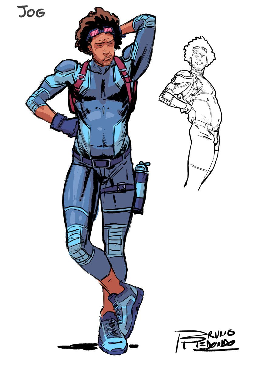Jog has a bit of a gut but is dressed for running, , from DC Comics' 2019 Suicide Squad series.